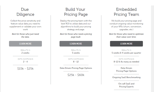 pricing strategy examples screenshot
