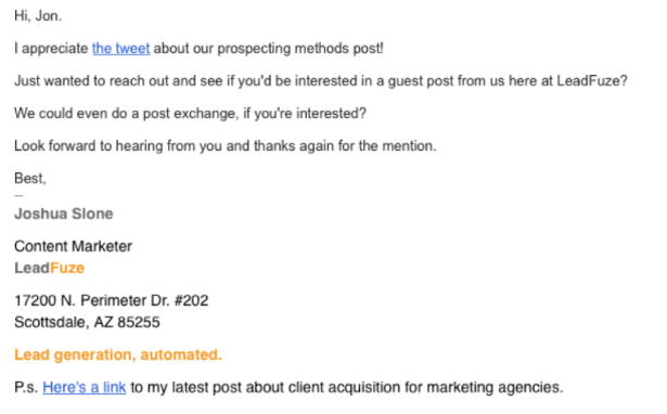 Guest posting as a way to generate leads 4 email sequence included guest posting maxwellsz