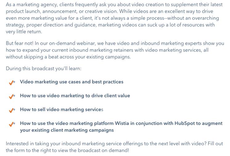 marketing a webinar