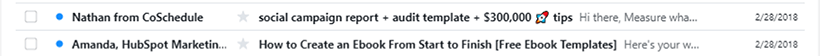 Write compelling subject lines
