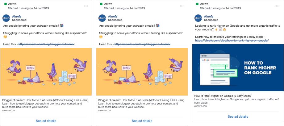 Ahrefs content promotion facebook