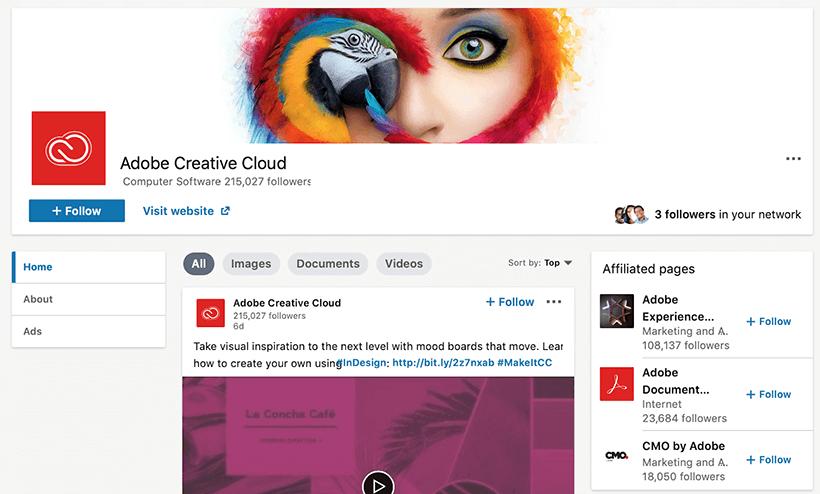 Creative linkedin page