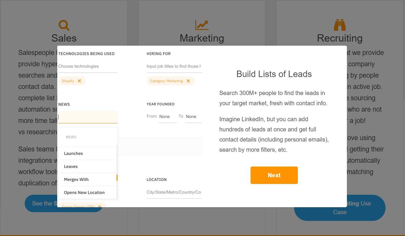 build list prospects