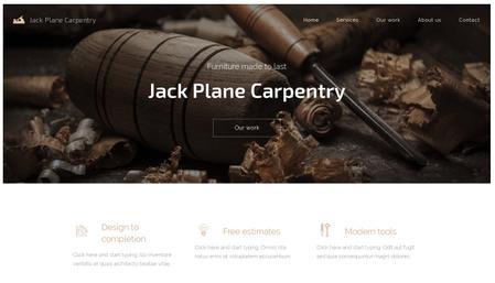 carpentry lead generation website template