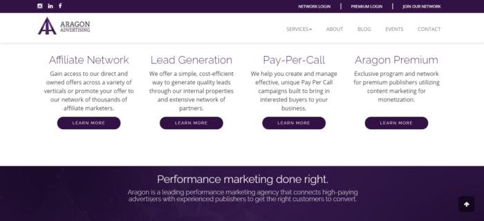 aragon advertising lead generation affiliate marketing program