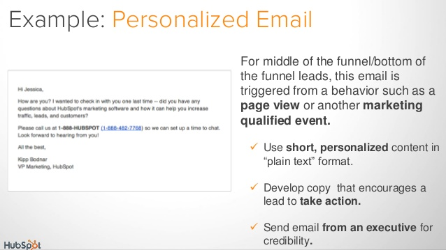 lead generation email sample