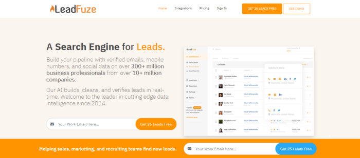 leadfuze lead generation tool