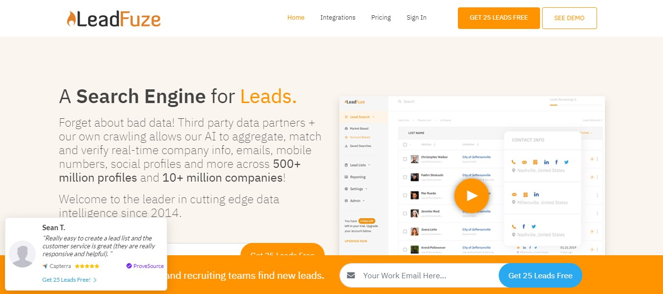 how to find someone's email address with LeadFuze